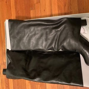 See by Chloé black leather fold over boots